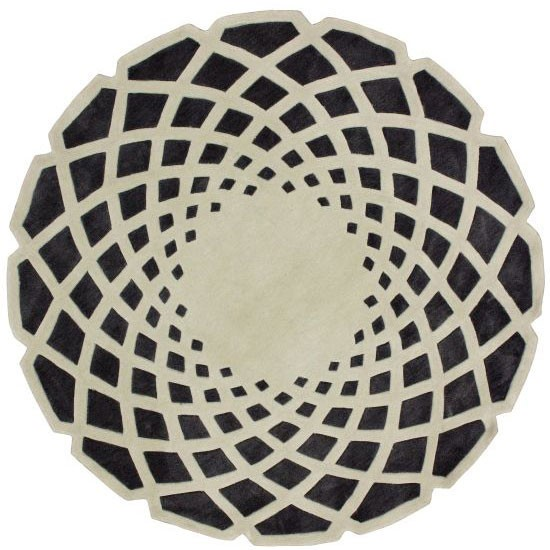 Ковер круглый серо чёрный 240 см от DG-home