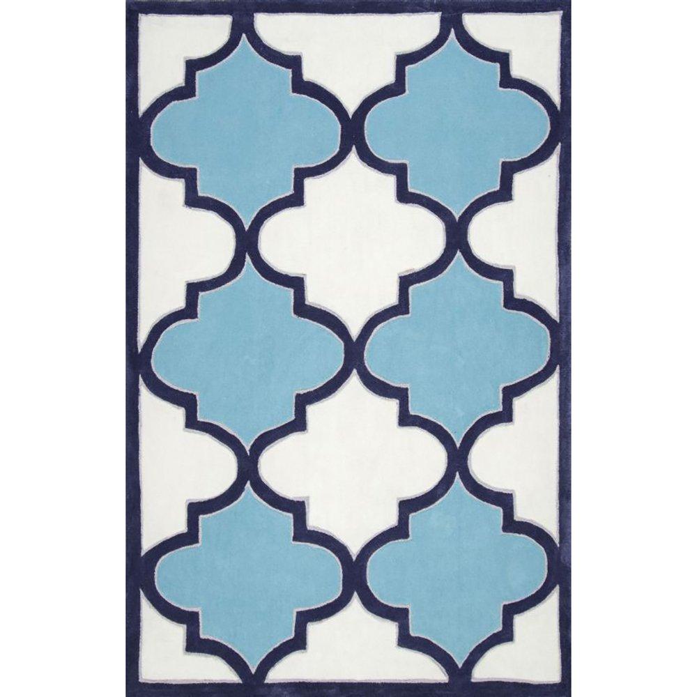 Купить Ковер Trelli бело голубой 1,2 1,8 м в интернет магазине дизайнерской мебели и аксессуаров для дома и дачи