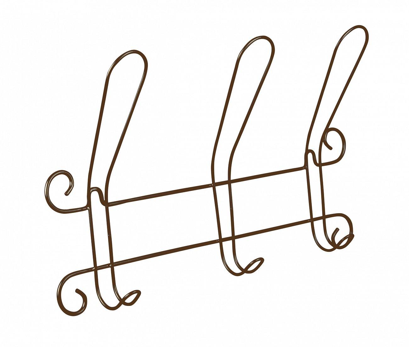 Купить Вешалка Настенная Graciya zavit коричневая в интернет магазине дизайнерской мебели и аксессуаров для дома и дачи