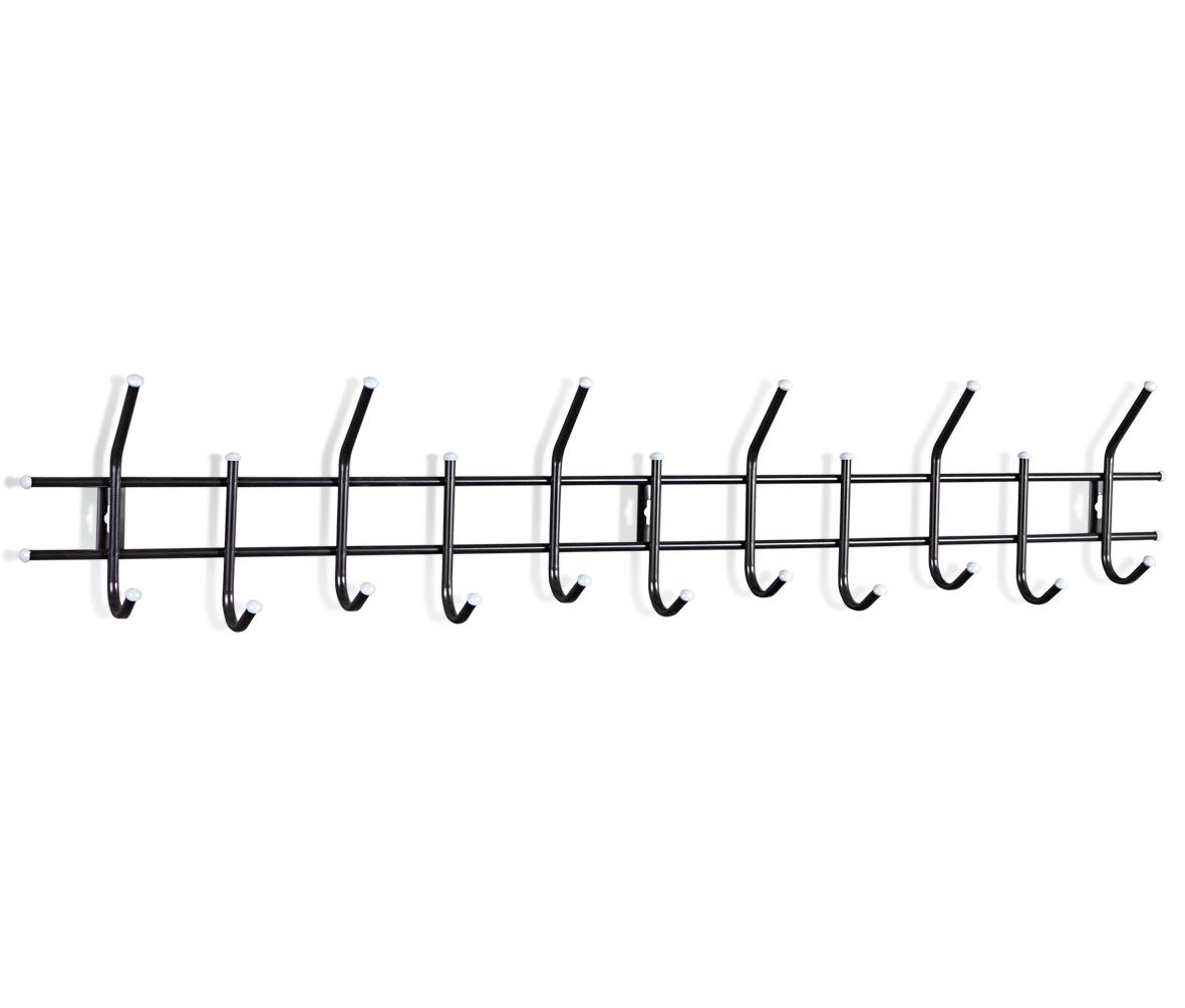 Купить Вешалка Настенная Standart 11 чёрно-серая в интернет магазине дизайнерской мебели и аксессуаров для дома и дачи