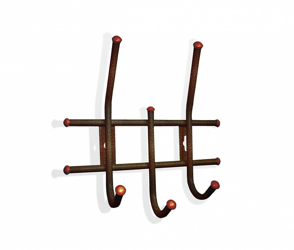 Вешалка Настенная Standart 3 медно-коричневая от DG-home