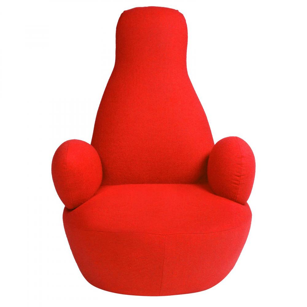 Кресло Bottle Chair Красный КашемирКресла<br>Бескаркасное, красного цвета, кресло Bottle <br>Chair сочетает в себе надежность и комфорт, <br>его создание вдохновлено знаменитым бескаркасным <br>креслом-мешком итальянского дизайнера <br>Гатти. Кресло с круглым сиденьем и подлокотниками, <br>необычной спинкой, выглядит нестандартно, <br>легко перемещается. Кресло создано для <br>релаксации и вдохновения. Часто говорят: <br>«не лезь в бутылку». А вот в эту «бутылку» <br>как раз можно и нужно «лезть»!<br><br>Цвет: Красный<br>Материал: Кашемир<br>Вес кг: 15<br>Длина см: 70<br>Ширина см: 90<br>Высота см: 105
