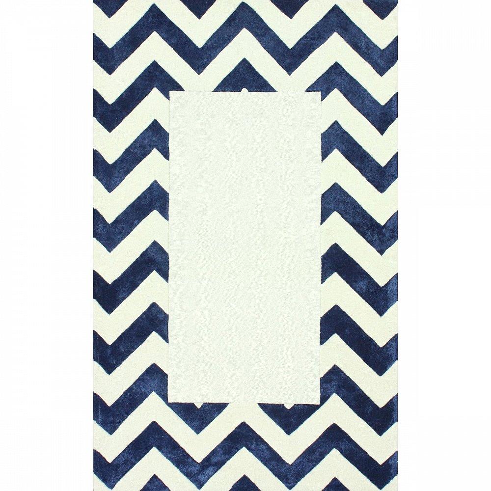 Ковер Zig Zag синий с квадратом 120*180, CD-D-046