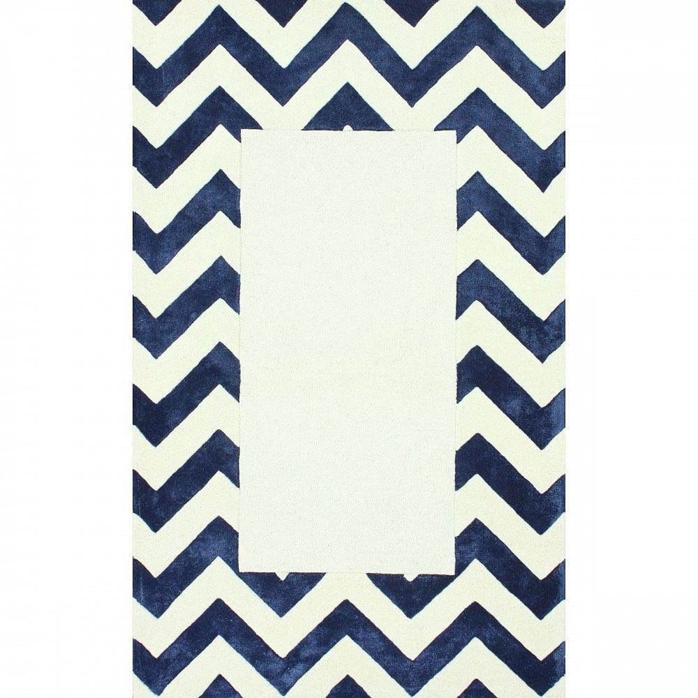 Ковер Zig Zag синий с квадратом 140*200, CD-D-046-1