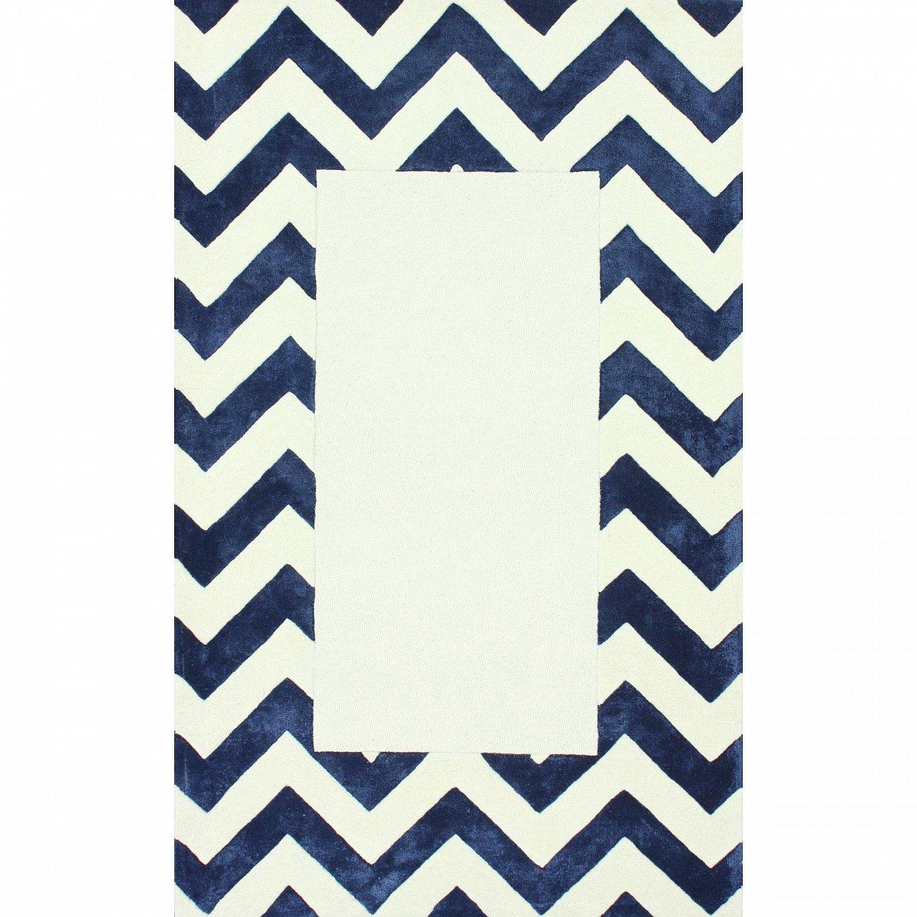 Купить Ковер Zig Zag синий с квадратом 2 2,8 м в интернет магазине дизайнерской мебели и аксессуаров для дома и дачи
