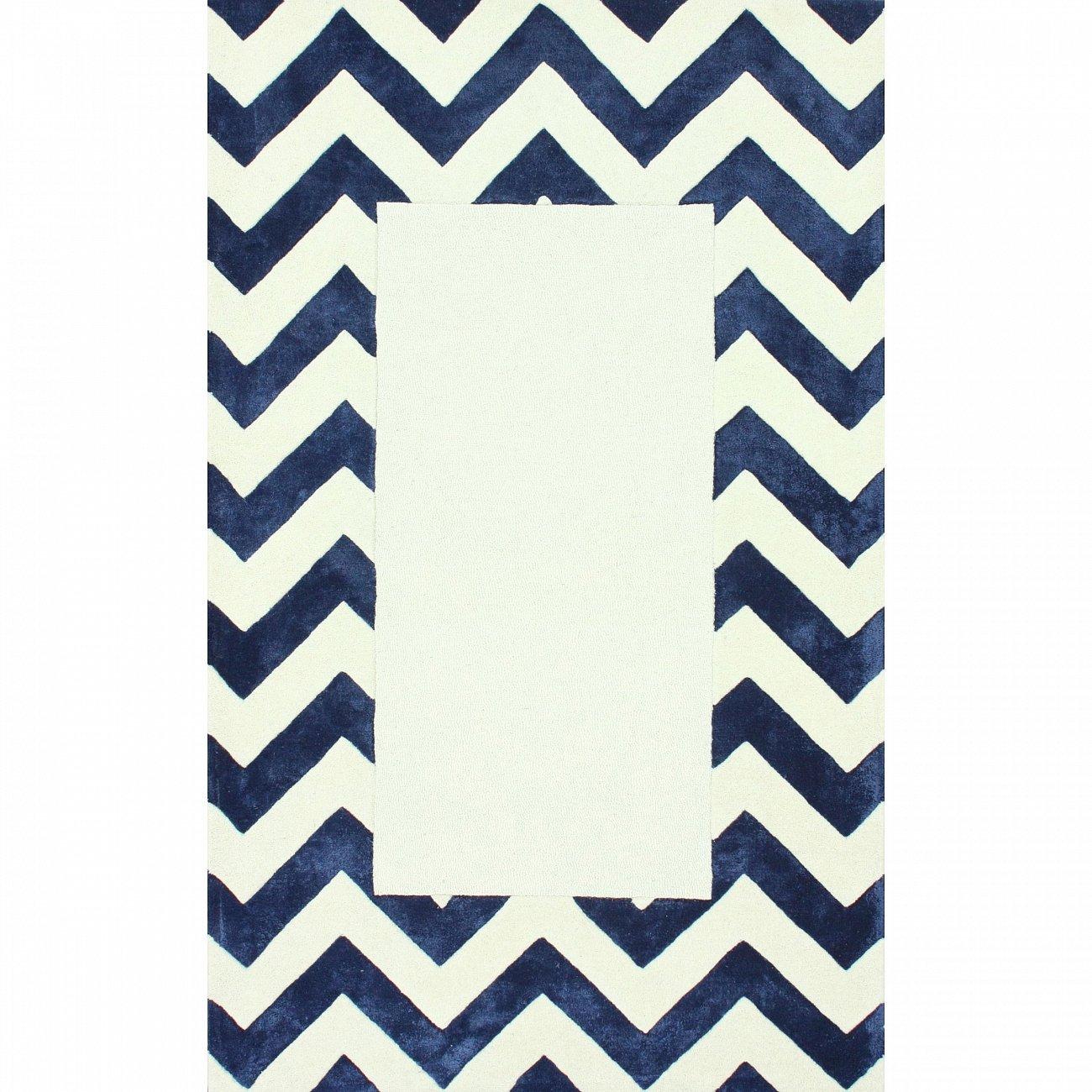 Купить Ковер Zig Zag синий с квадратом 3 4 м в интернет магазине дизайнерской мебели и аксессуаров для дома и дачи