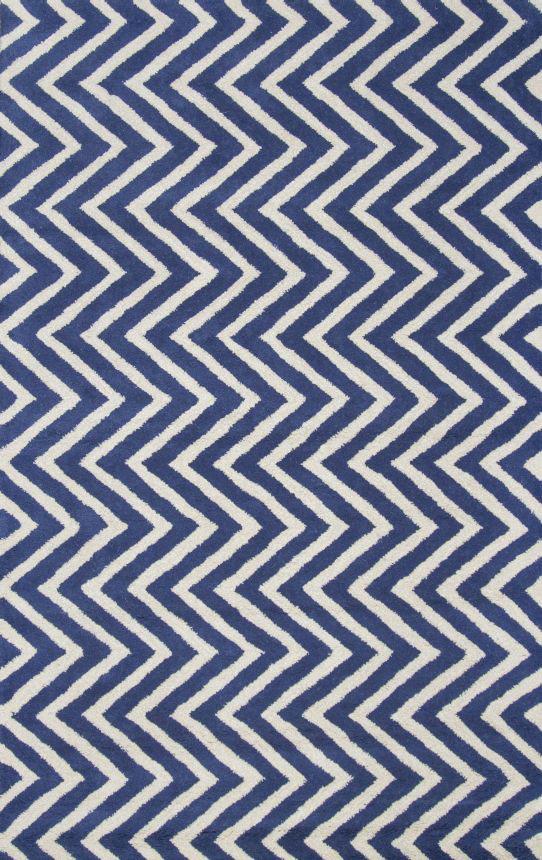 Купить Ковер Zig Zag синий 1,2 1,8 м в интернет магазине дизайнерской мебели и аксессуаров для дома и дачи