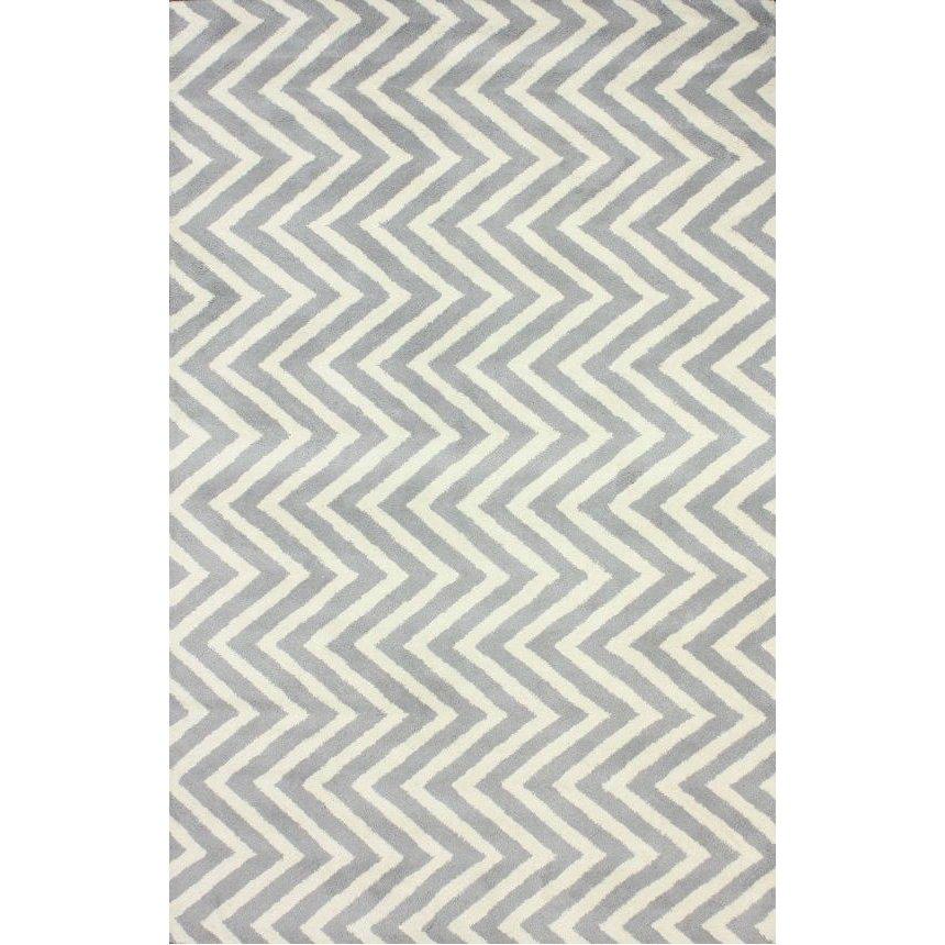 Купить Ковер Zig Zag серый 1,6 2,3 м в интернет магазине дизайнерской мебели и аксессуаров для дома и дачи