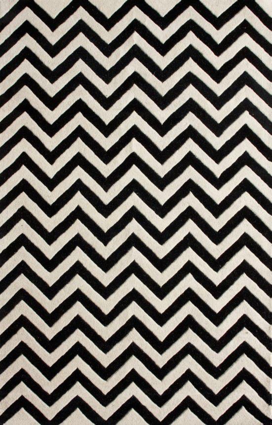 Ковер Zig Zag чёрный 140*200, CD-D-052-01