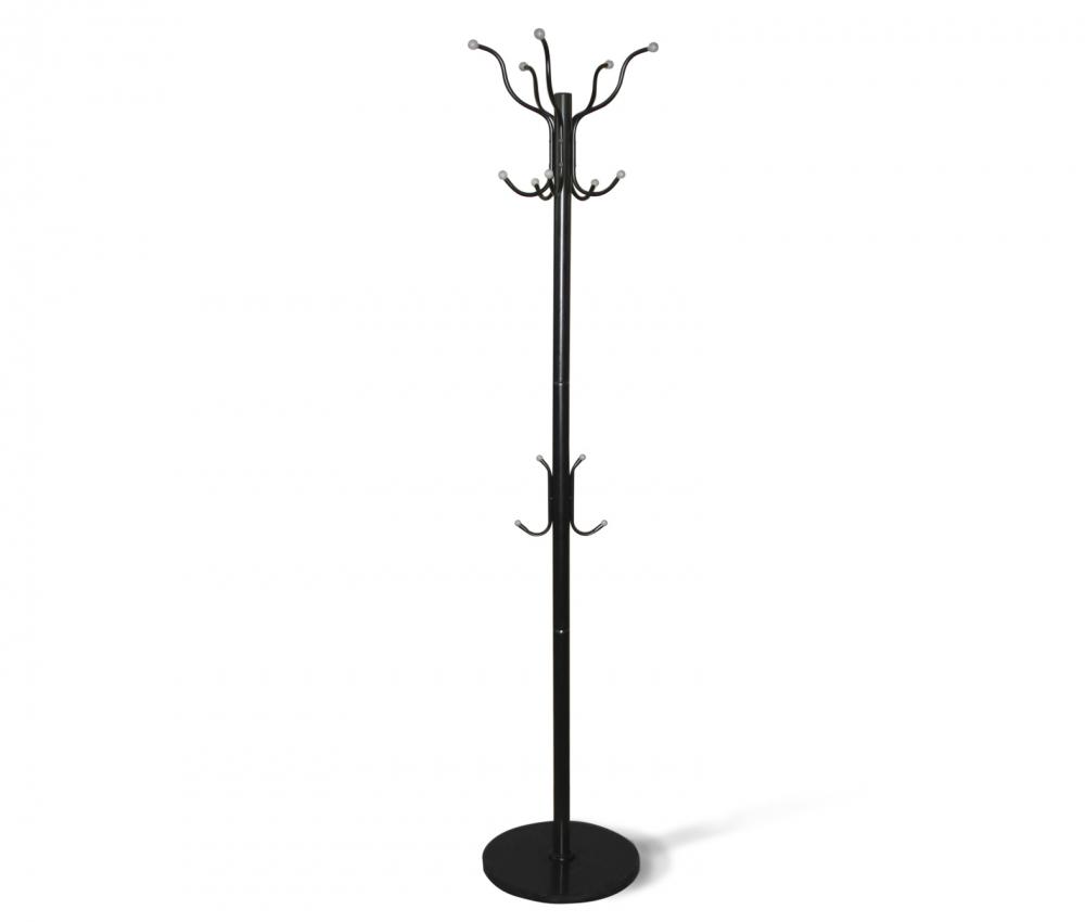 Вешалка напольная чёрно-серая на подставке