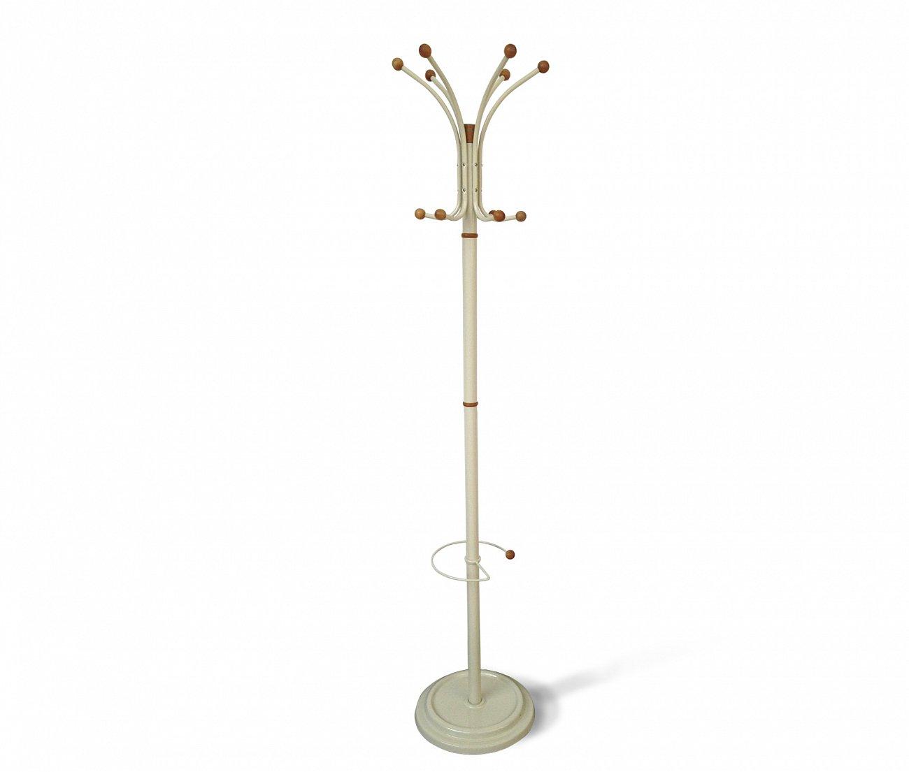 Купить Вешалка напольная CR 7 бело-коричневая в интернет магазине дизайнерской мебели и аксессуаров для дома и дачи