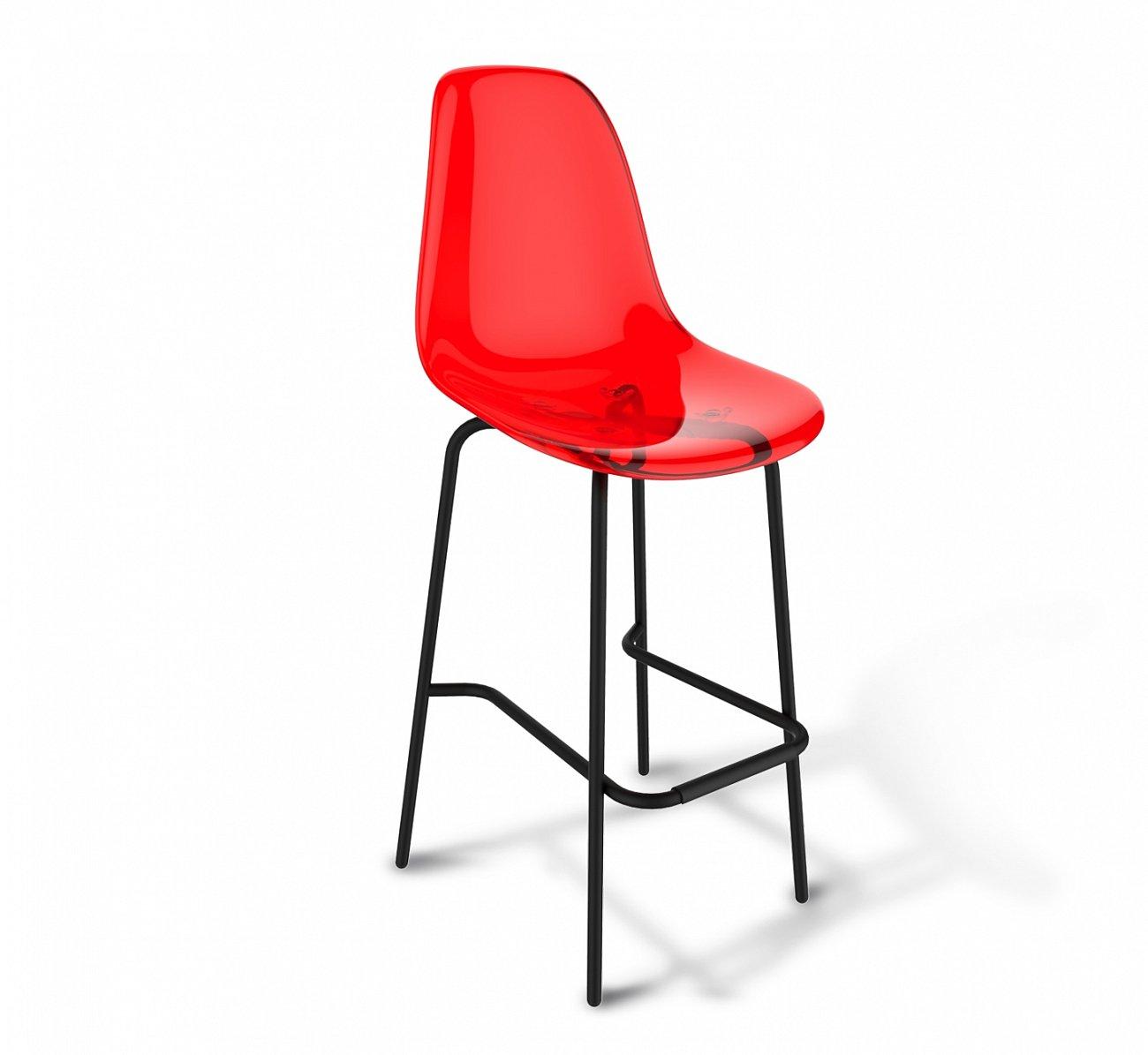 Купить Стул барный DSR красный S29 в интернет магазине дизайнерской мебели и аксессуаров для дома и дачи