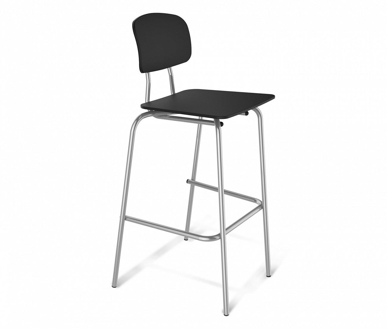 Купить Стул барный чёрный хром S55 в интернет магазине дизайнерской мебели и аксессуаров для дома и дачи