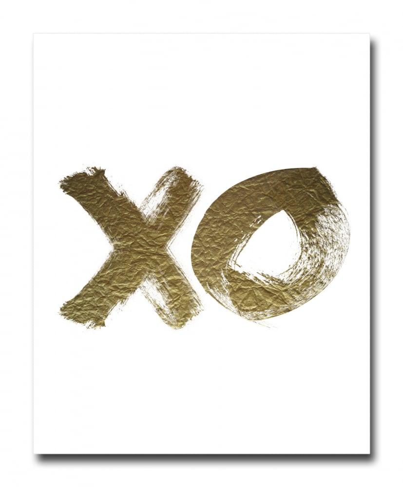 Постер XO золотой A4