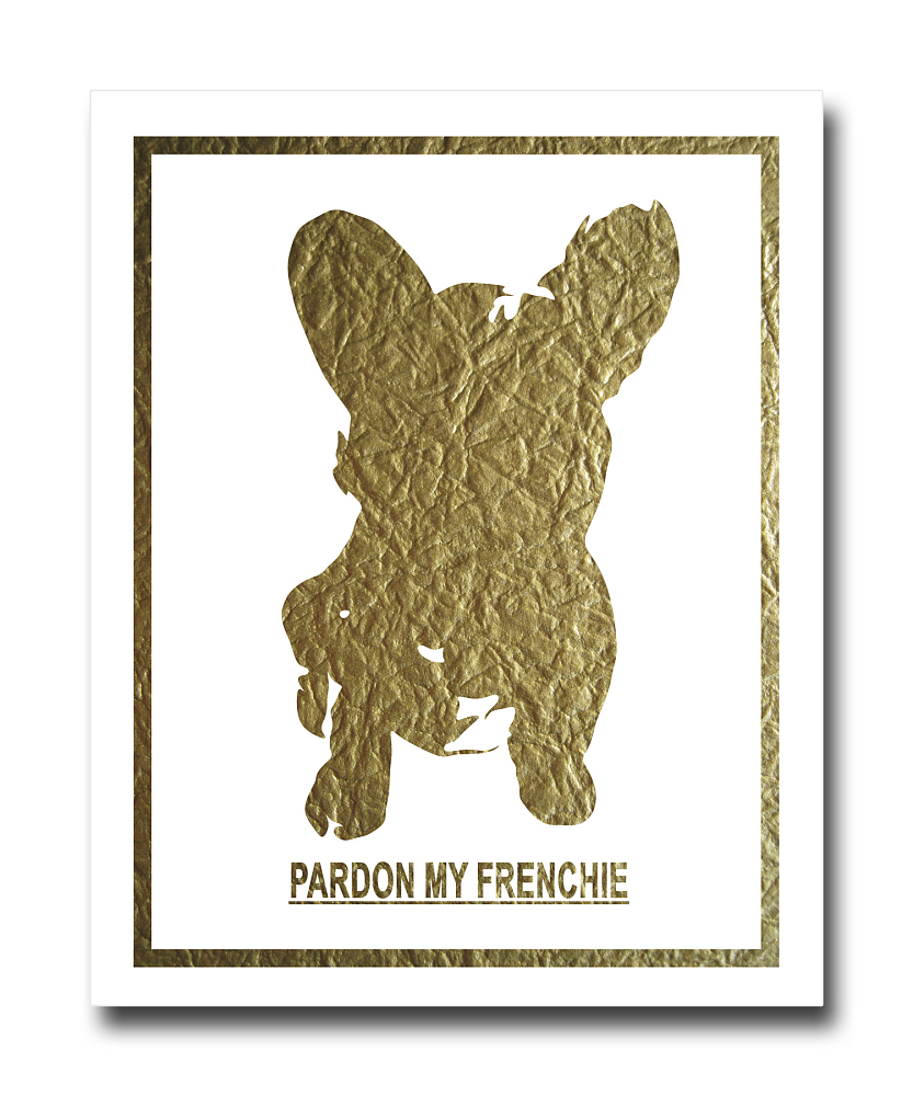 Постер French Dog на белом фоне A3, DG-D-PR493-1
