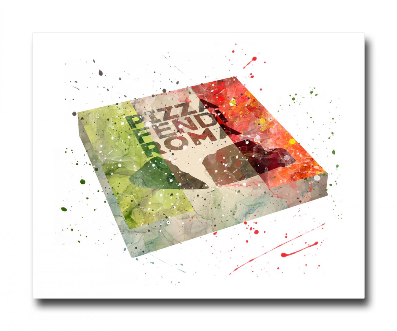 Купить Постер Pizza A4 в интернет магазине дизайнерской мебели и аксессуаров для дома и дачи