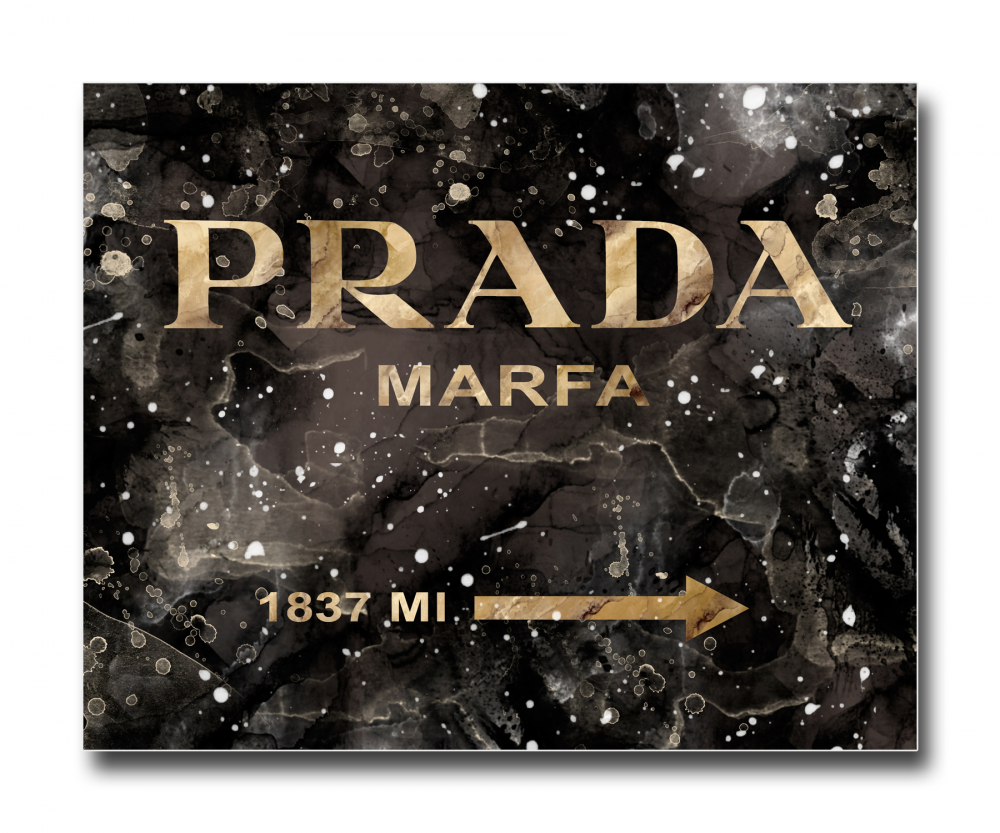 Постер Prada Mafia на чёрном в золотом A4