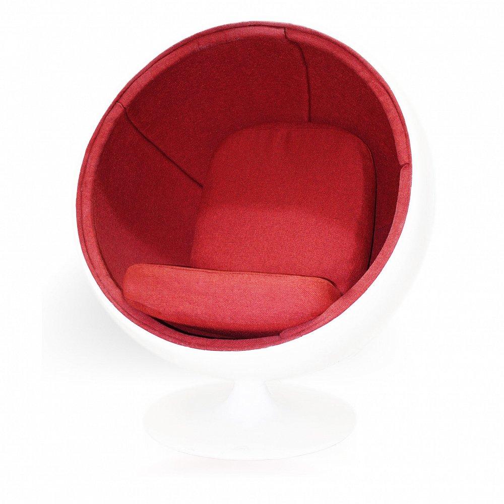 Кресло Ball Chair Мальта Бело-Красная, Di-D-01-1