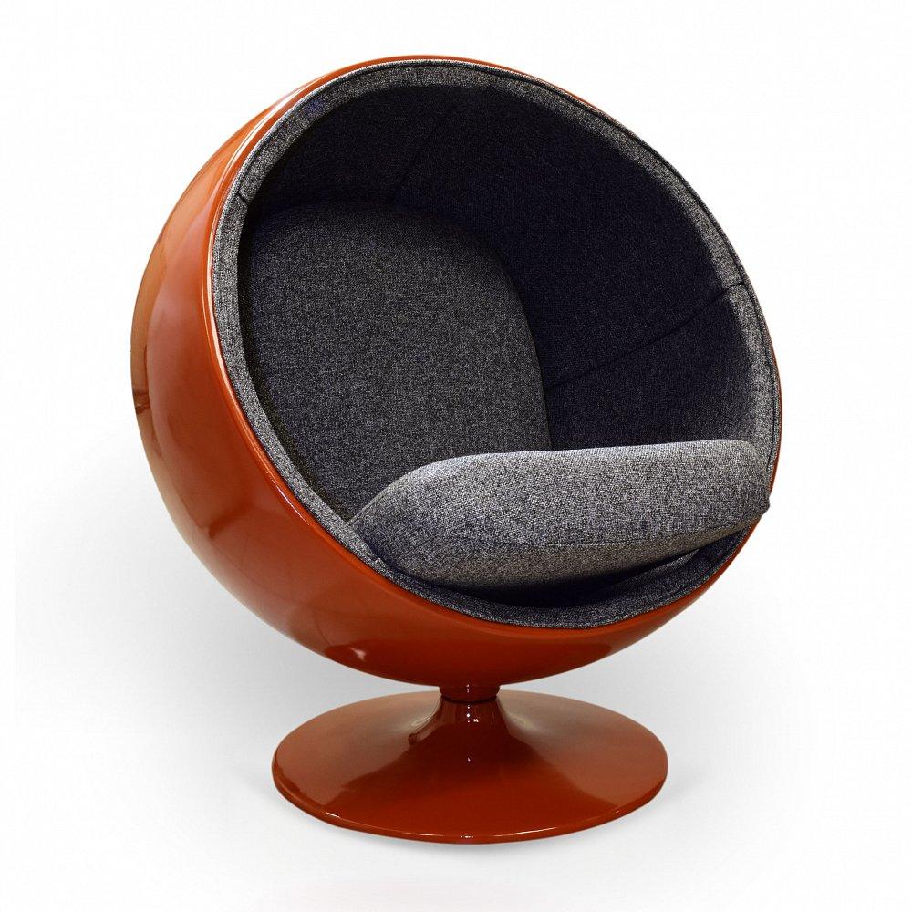 Кресло Ball Chair Мальта Оранжево-Чёрная, Di-D-01-4