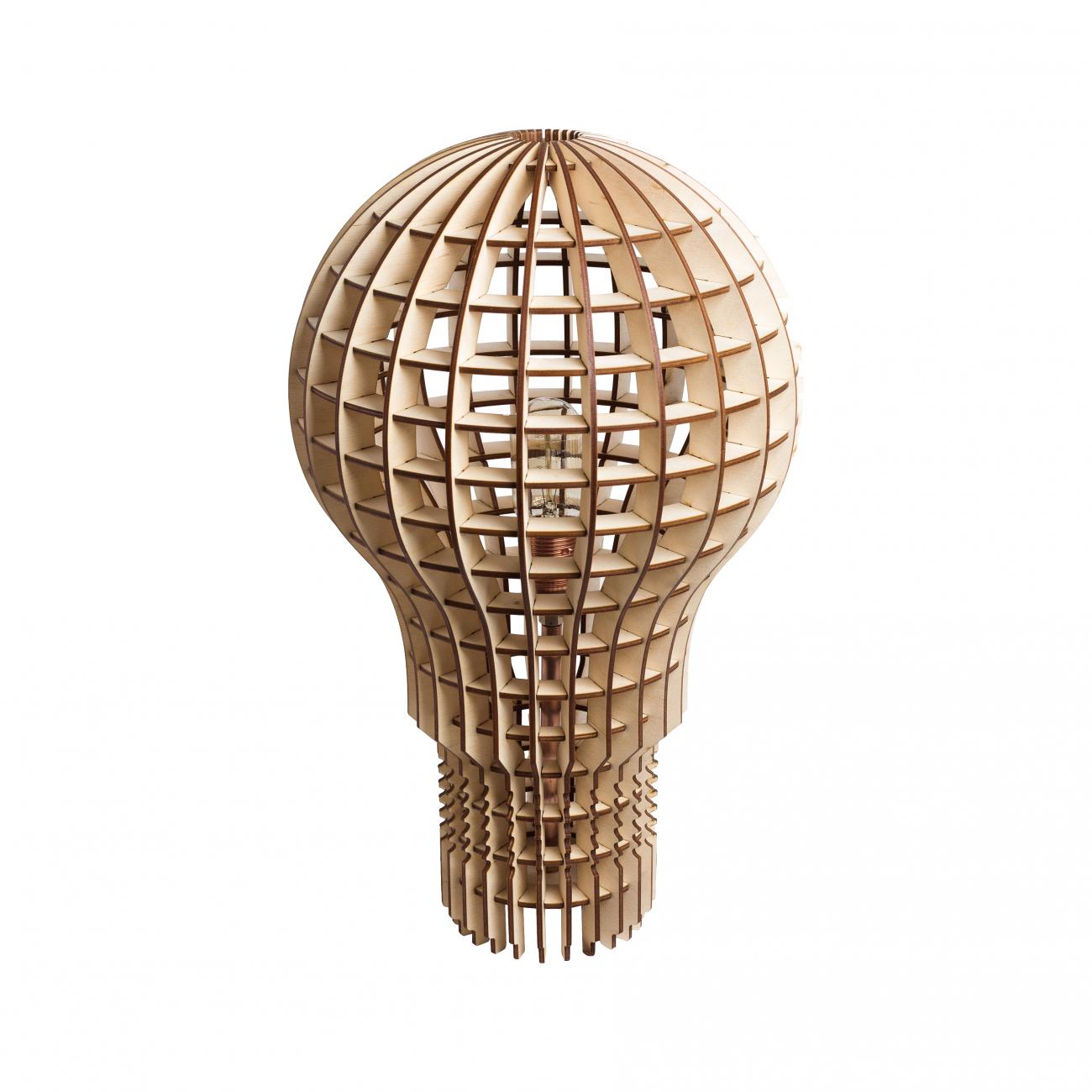 Купить Настольная лампа Лампочка Ильича Светлое дерево в интернет магазине дизайнерской мебели и аксессуаров для дома и дачи