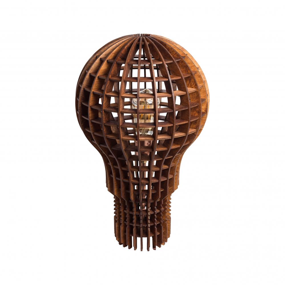 Напольная лампа Лампочка Ильича Тёмное • дерево