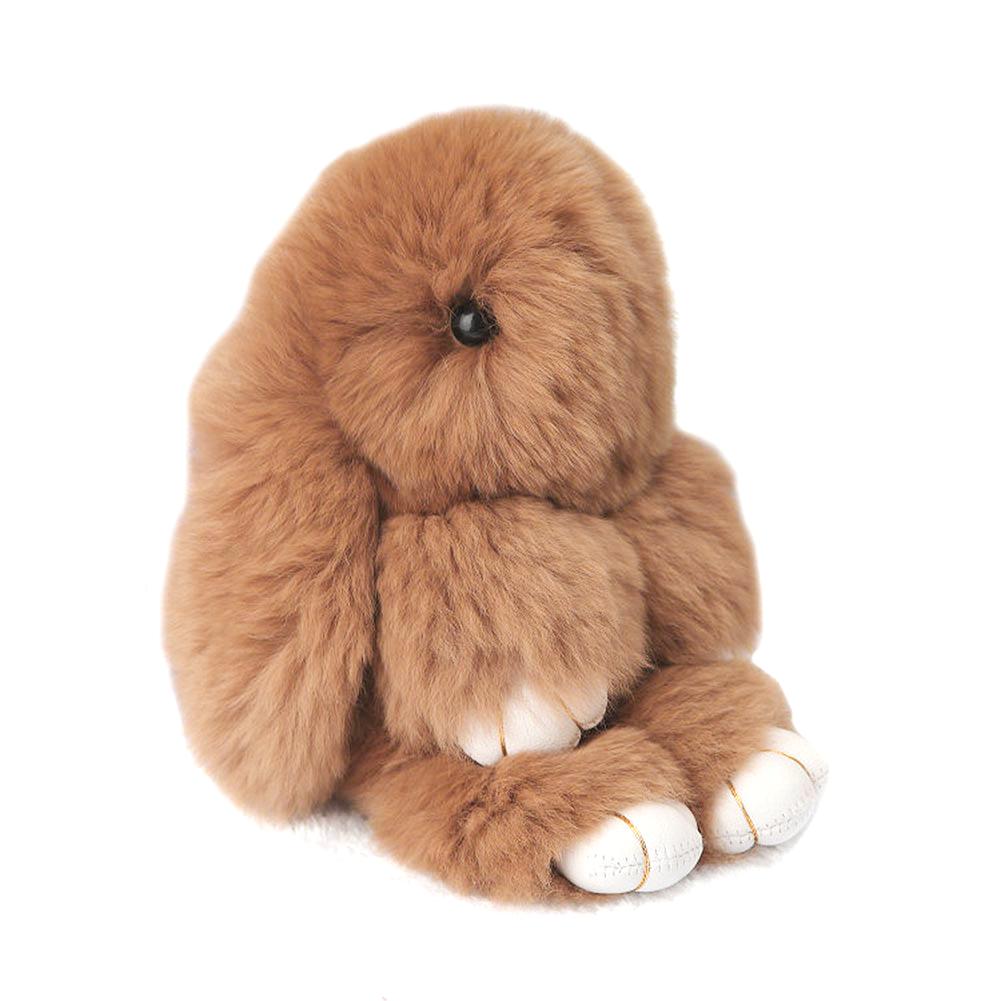 Купить Меховой Зайка Брелок Коричневый в интернет магазине дизайнерской мебели и аксессуаров для дома и дачи