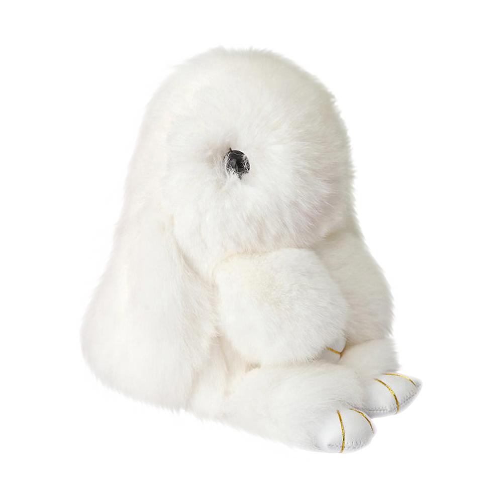 Купить Меховой Зайка Брелок Белый в интернет магазине дизайнерской мебели и аксессуаров для дома и дачи