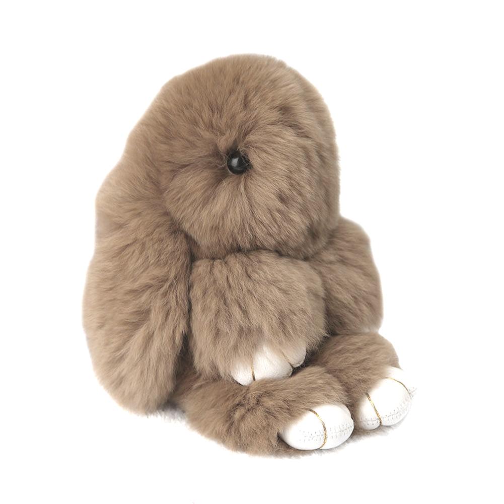 Купить Меховой Зайка Брелок Бежевый в интернет магазине дизайнерской мебели и аксессуаров для дома и дачи