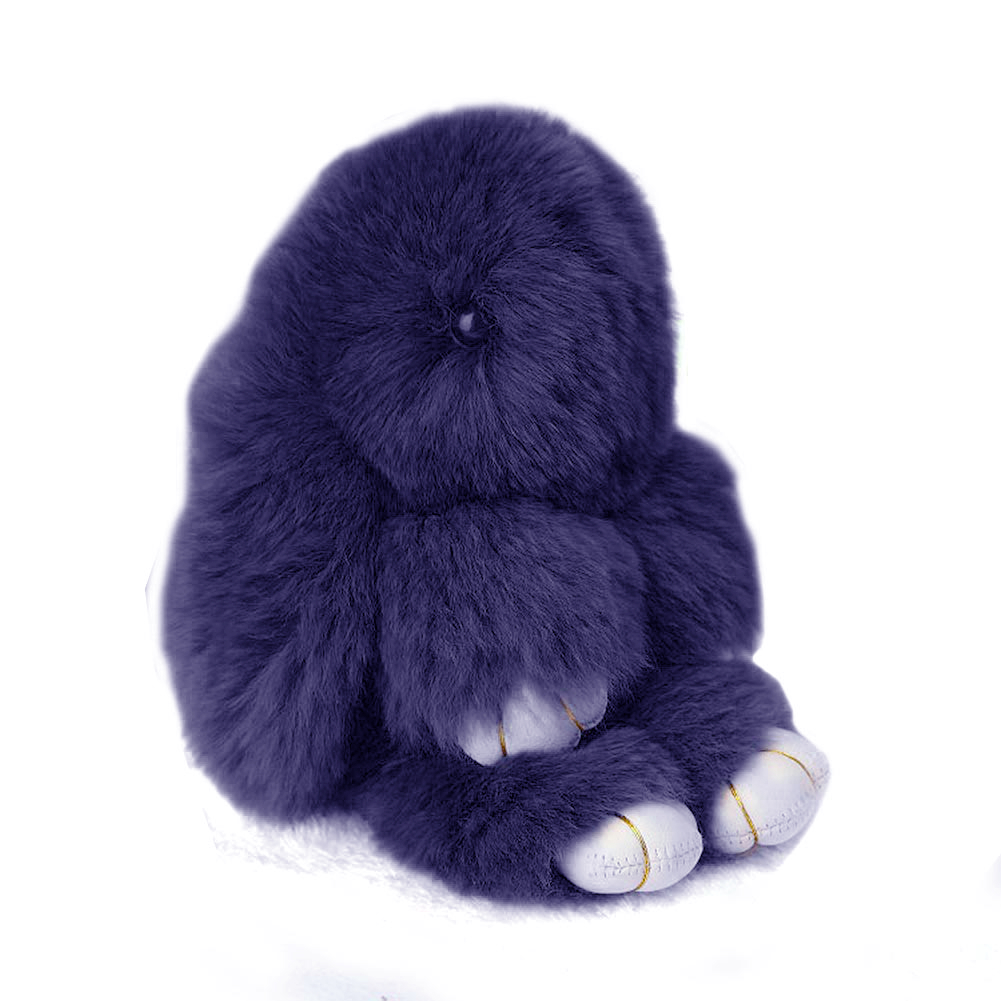 Купить Меховой Зайка Брелок Серо-голубой в интернет магазине дизайнерской мебели и аксессуаров для дома и дачи