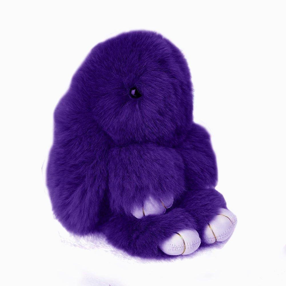 Купить Меховой Зайка Брелок Тёмно-фиолетовый в интернет магазине дизайнерской мебели и аксессуаров для дома и дачи