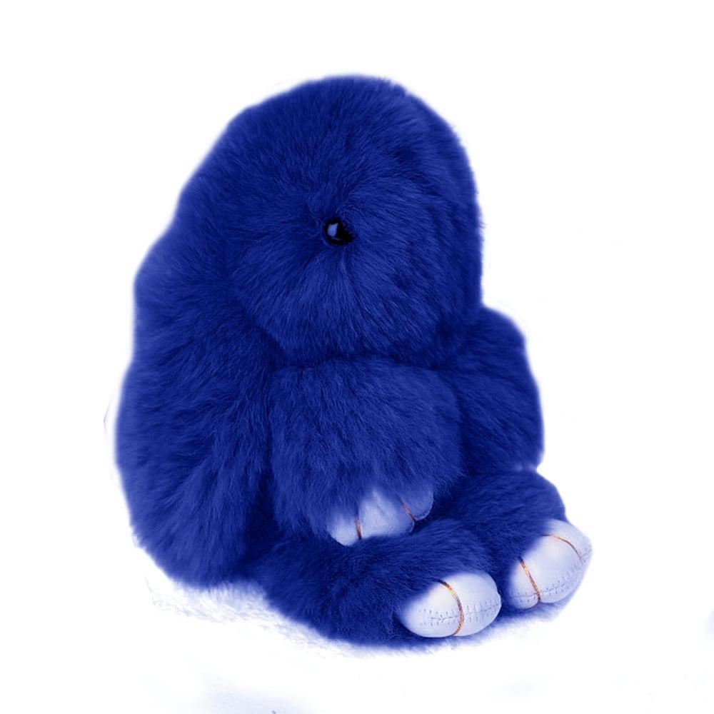 Меховой Зайка Брелок Синий, DG-D-TS06-15