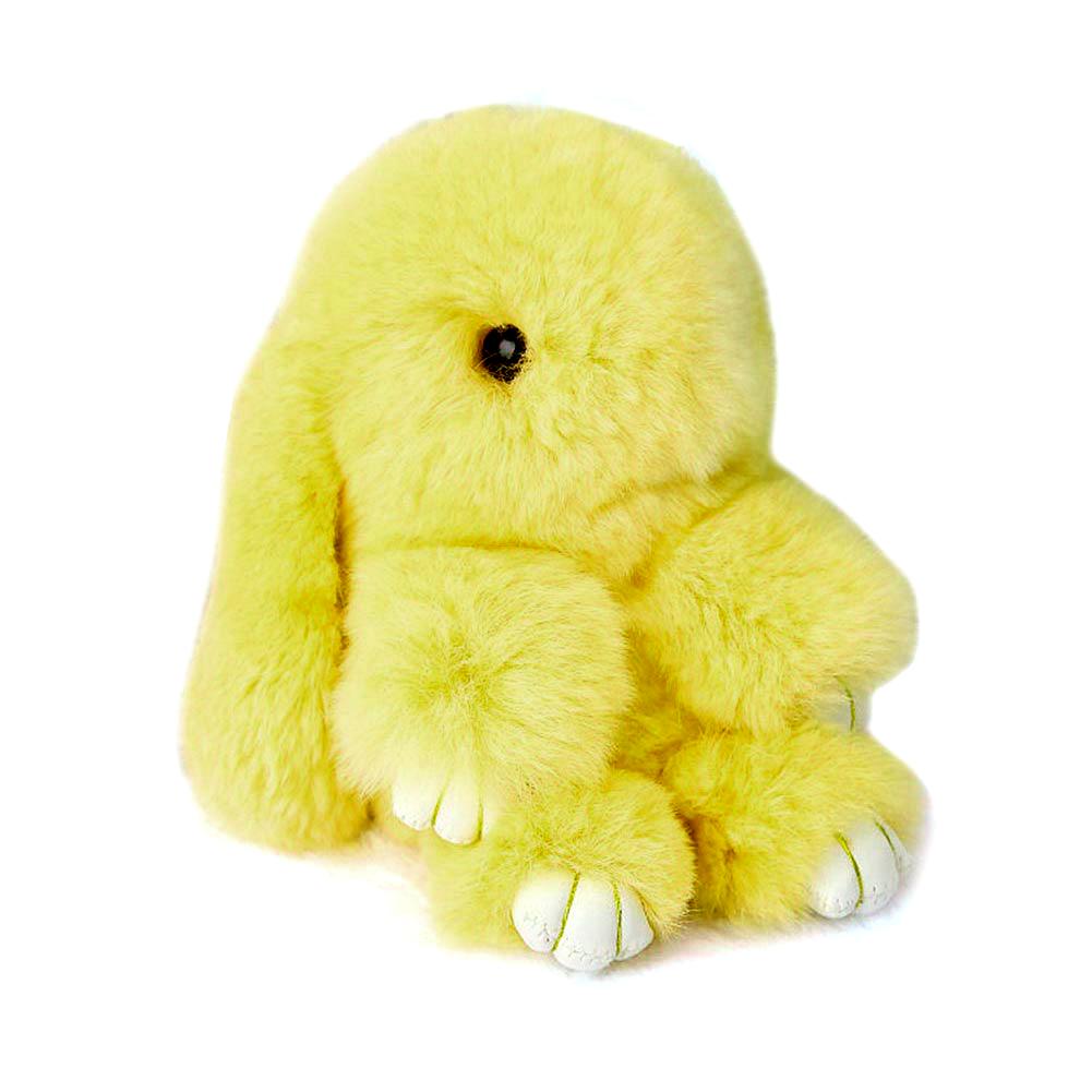 Купить Меховой Зайка Брелок Жёлтый в интернет магазине дизайнерской мебели и аксессуаров для дома и дачи