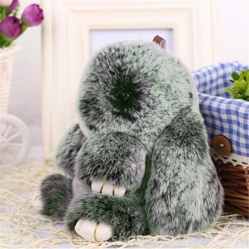 Купить Меховой Зайка Брелок Зелёный в интернет магазине дизайнерской мебели и аксессуаров для дома и дачи