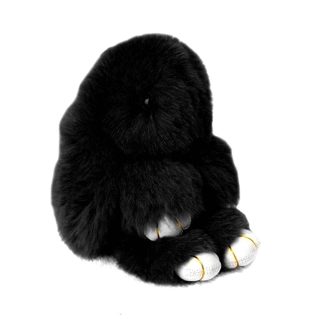 Купить Меховой Зайка Брелок Чёрный в интернет магазине дизайнерской мебели и аксессуаров для дома и дачи
