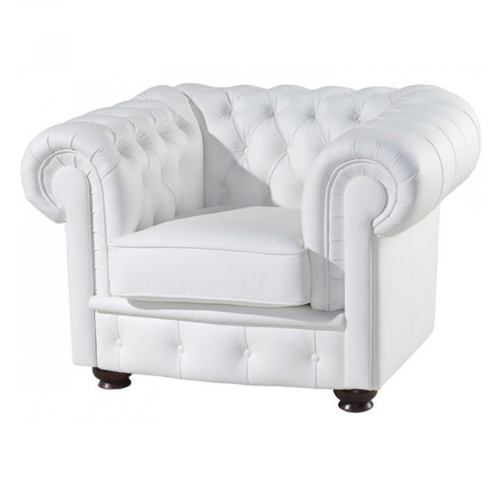 Кресло Chester (Chesterfield) Белое Экокожа