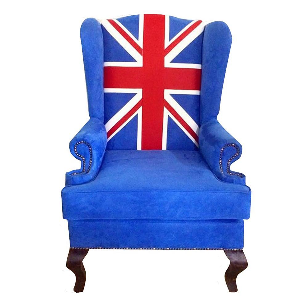 Каминное кресло Union Jack classicКресла<br>Классическое каминное кресло Union Jack classic <br>Кресло Union Jack, это уникальный предмет мебели, <br>предназначенный для отдыха, чтения, посиделок <br>у камина. Конструкция крылатого стула позволяет <br>комфортно себя чувствовать, сидя в этом <br>кресле достаточно долго. Это мягкое, уютное, <br>приятное на ощупь кресло с ушами, не смотря <br>на свое долголетие, пользуется большой <br>популярностью во всем мире. Только вот названия <br>у него разные. На родине его называют «крылатым», <br>или «дедушкиным», у нас вольтеровским.<br><br>Цвет: Синий, Красный, Белый<br>Материал: Текстиль<br>Вес кг: None<br>Длина см: 73<br>Ширина см: 70<br>Высота см: 112