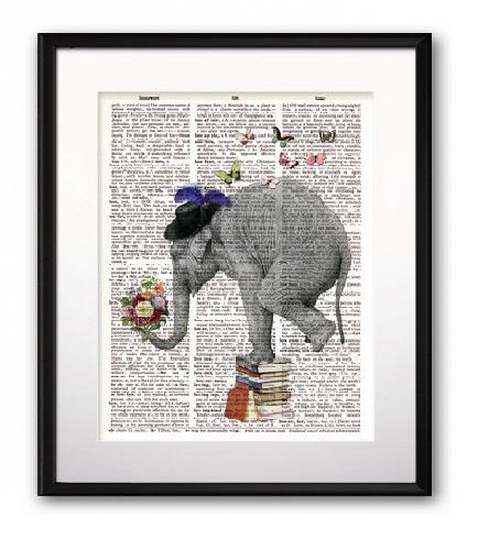 Купить Постер Mr. Elephant А4 в интернет магазине дизайнерской мебели и аксессуаров для дома и дачи