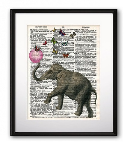Постер Elephant and Balloon А4