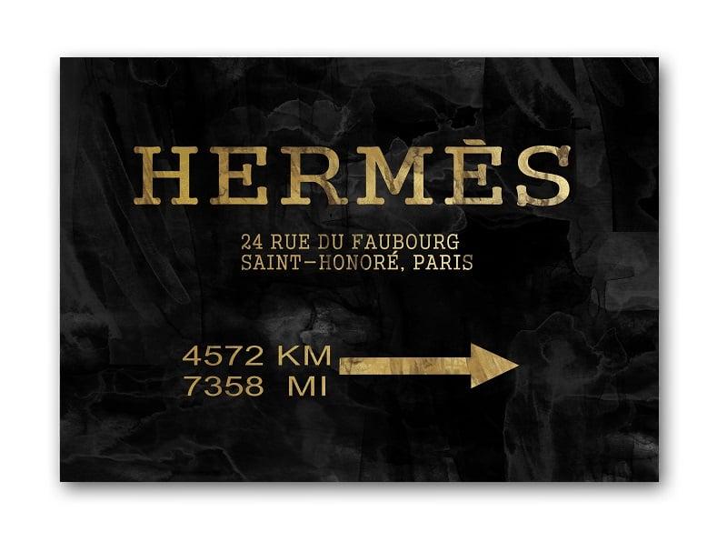 Постер Hermes А3Постеры<br><br><br>Цвет: Чёрный, Золотой<br>Материал: Бумага<br>Вес кг: 0,3<br>Длина см: 30<br>Ширина см: 40<br>Высота см: 0,1