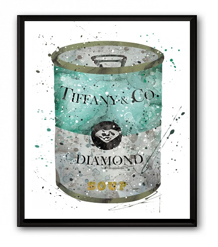 Постер Soup Tiffany & CO А4, DG-D-PR512-1