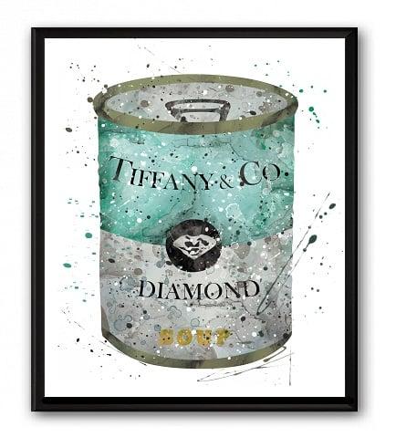 Купить Постер Soup Tiffany & CO А4 в интернет магазине дизайнерской мебели и аксессуаров для дома и дачи