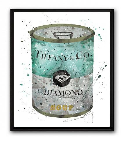 Постер Soup Tiffany &amp; CO А3Постеры<br>Постеры для интерьера сегодня являются <br>одним из самых популярных украшений для <br>дома. Они играют декоративную роль и заключают <br>в себе определённый образ, который будет <br>отражать вашу индивидуальность и создавать <br>атмосферу в помещении. При этом их основная <br>цель — отображение стиля и вкуса хозяина <br>квартиры. При этом стиль интерьера не имеет <br>значения, они прекрасно будут смотреться <br>в любом. С ними дизайн вашего интерьера <br>станет по-настоящему эксклюзивным и уникальным, <br>и можете быть уверены, что такой декор вы <br>не увидите больше нигде. А ваши гости будут <br>восхищаться тонким вкусом хозяина дома. <br>В нашем интернет-магазине представлен большой <br>ассортимент настенных декоративных постеров: <br>ироничные и забавные, позитивные и мотивирующие, <br>на которых изображено все, что угодно — <br>красивые пейзажи и фотографии животных, <br>бижутерия и лейблы модных брендов, фотографии <br>популярных персон и рекламные слоганы. <br>Размер А3 (297x420 мм). Рамки белого, черного, <br>серебряного, золотого цветов. Выбирайте!<br><br>Цвет: Белый, Серый, Бирюзовый<br>Материал: Бумага<br>Вес кг: 0,3<br>Длина см: 30<br>Ширина см: 40<br>Высота см: 0,1