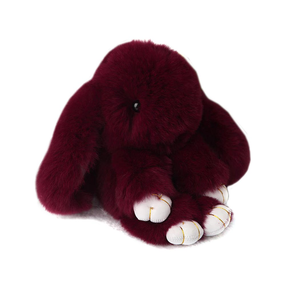 Купить Меховой Зайка Брелок Бордовый в интернет магазине дизайнерской мебели и аксессуаров для дома и дачи