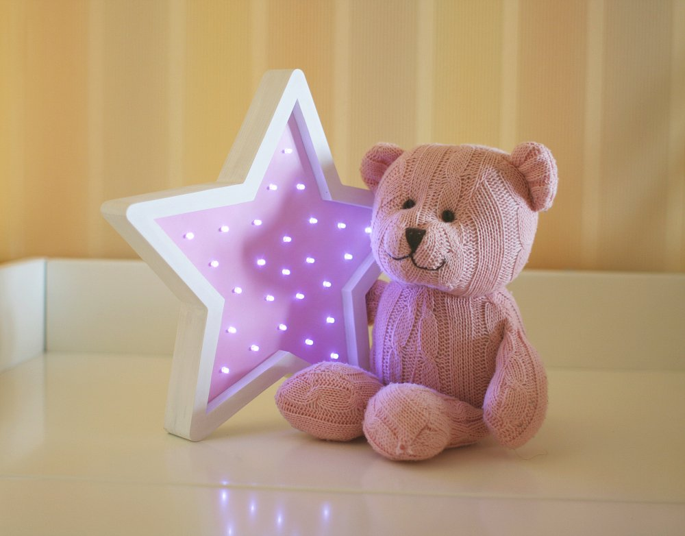 """Детский светильник """"Звездочка"""" Фиолетовый"""