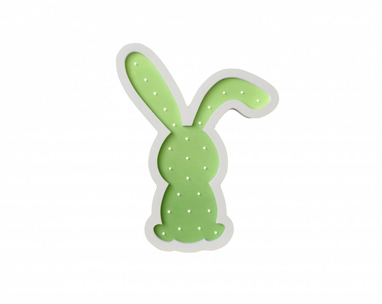 """Купить Детский светильник """"Зайка""""Зелёный в интернет магазине дизайнерской мебели и аксессуаров для дома и дачи"""