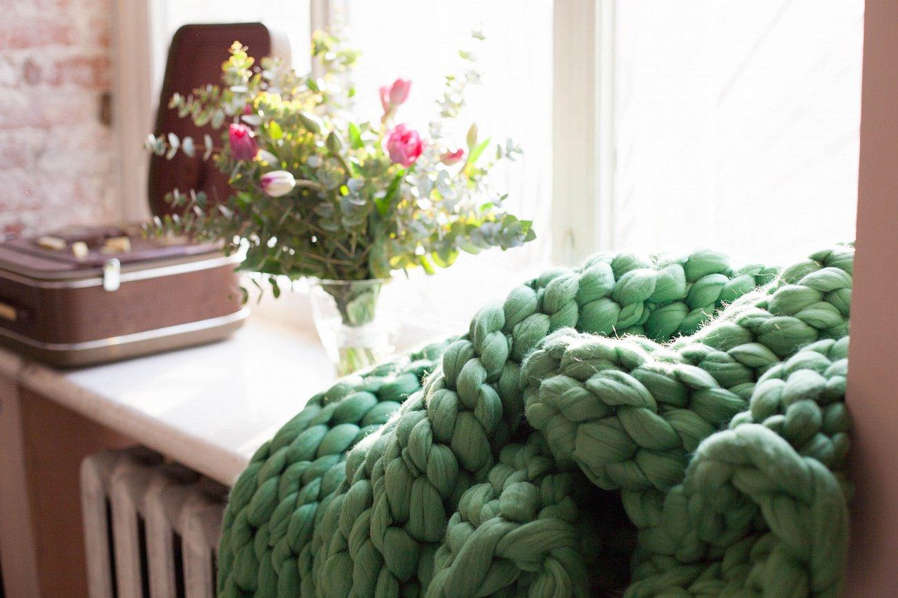 """Купить Плед """"Нежность"""" Зелёный Малый в интернет магазине дизайнерской мебели и аксессуаров для дома и дачи"""