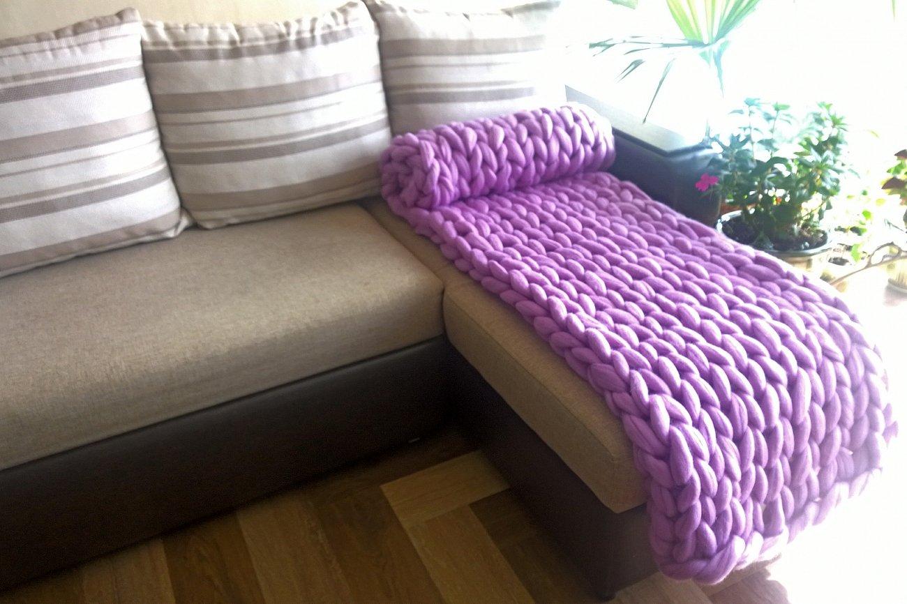 """Купить Плед """"Нежность"""" Фиолетовый Малый в интернет магазине дизайнерской мебели и аксессуаров для дома и дачи"""