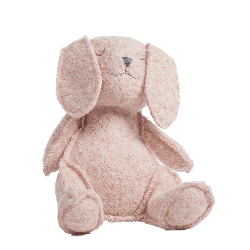 Игрушка КроликИгрушки<br>35% шерсть, 65% полиэстер, поролон.<br><br>Цвет: Розовый<br>Материал: Полиэстер<br>Вес кг: 3,1<br>Длина см: 24<br>Ширина см: 28<br>Высота см: 21