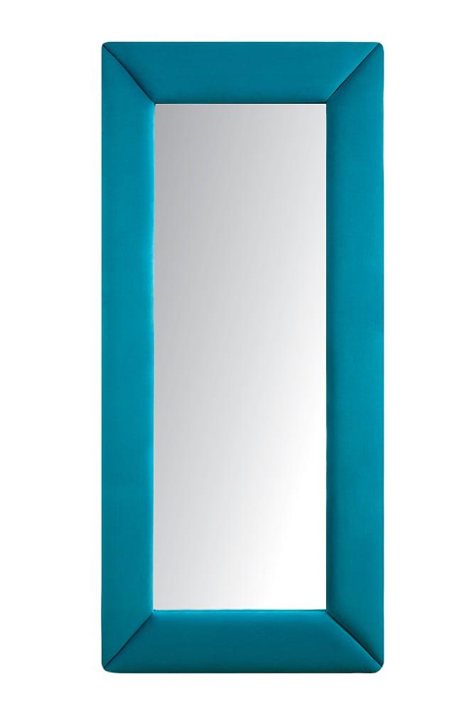 Зеркало напольное ГолубоеЗеркала<br>Зеркала являются незаменимыми элементами <br>декора или элементами интерьера. Большие <br>зеркала способны создавать причудливые <br>эффекты: зритель увеличивать комнату, создавать <br>иллюзию удлиненной комнаты, углублять ниши. <br>Зеркало в полный рост, имеет, также, практическое <br>применение. Чтобы разобраться, где такие <br>зеркала будут смотреться лучше всего, следует <br>рассмотреть все варианты.<br><br>Цвет: Голубой<br>Материал: Древесный материал<br>Вес кг: None<br>Длина см: 83<br>Ширина см: 5<br>Высота см: 175