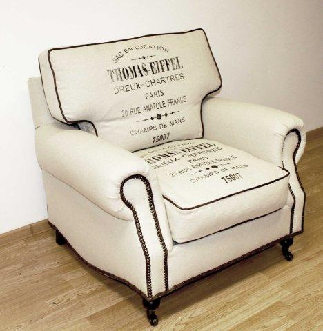 Кресло с подлокотниками Thomas EiFFel Белое